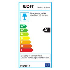 MAAR Supporto rigido 5W LED Cromo A+ lampada a sospensione
