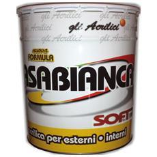 Idropittura lavabile acrilica per esterni ed interni CASABIANCA SOFT da 13 Litri