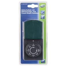 Timer meccanico IP44 nero-verde