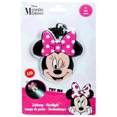 Lampada Led Disney Minnie Morbida Con Cordino Cm 8 X 7 Per Bambine