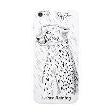 Cover 0,5mm i hate raining+screen prot iphone se