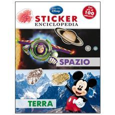 Spazio, terra. Sticker enciclopedia