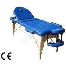 Lettino Massaggio 3 Zone Nuovo Modello - Dimensione Xl 195 X 70 Cm - Pannello Reiki - Angoli Arrotondati E Rinforzati - Lettini Per Da Massaggi Portatili Estetica - Nuovo - Fisioterapia Fisioterapista Tattoo Tatuaggi Relax - Blu