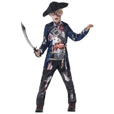 Costume Da Pirata Zombie Per Bambino 4 A 6 Anni