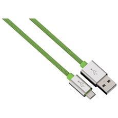 Cavo di Ricarica e Sincronizzazione Micro USB Colore Verde