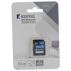 32GB SDHC, SDHC, Nero, Blu, UHS-I, Class 10, Blister