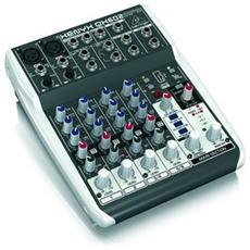 Qx602Mp3 Mixer a 6 Canali con Lettore Mp3 e Multi effetti per Live Studio Palestre Karaoke