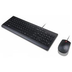 TASTIERA+MOUSE USB LENOVO lingua italiana 4X30L79903 Black