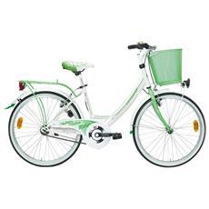 City Bike Lombardo Rimini 26 1v Bianco Verde Lucido