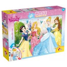 Principesse Disney - Puzzle Double-Face Plus 60 Pz