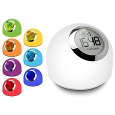 Revival Lampada da tavolo con funzione orologio sveglia con luce 7 multicolor