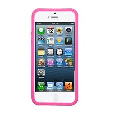 Bumper metal detail pink+screen prot. iphone se