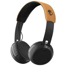 Cuffie Grind Wireless On-Ear con Microfono - colore Nero / marrone