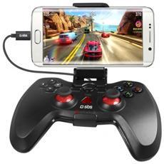 """Joypad cablato OTG con supporto smartphone fino a 5.7"""" compatibile con Android / PC / PS3"""