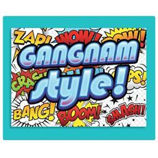 1 Biglietto D'auguri Bigliettino Musicale Compleanno Gangnam Style + Busta
