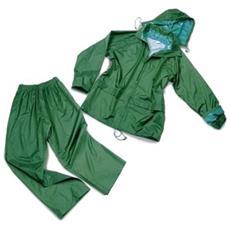Completo Impermeabile Verde L