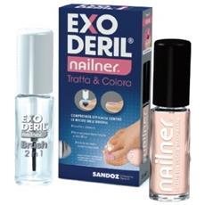 Exoderil Nailner Tratta & Colora Kit Exoderil Nailner Smalto 2 In 1 E Nailner Smalto Per Unghie Traspirante