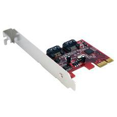 Scheda controller PCI Express SATA con 2 porte SATA 6 Gbps