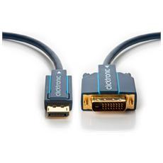 DisplayPort / DVI 15 m, 15m, DisplayPort, DVI-D, 8 mm, Box