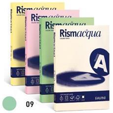 conf. 100 Carta colorata 90g Rismacqua verde chiaro A69P144