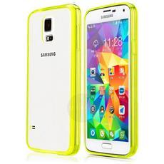 Cover Case Posteriore Trasparente E Telaio Oro - Samsung Galaxy S5