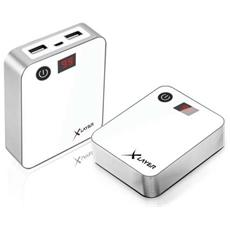 207027, Bianco, Smartphone, Tablet, iPhone, Ioni di Litio, 10000 mAh, USB