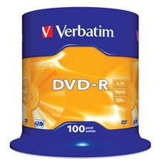 DVD-R 16x Adv AZO 4,7GB Spindle 100 pz