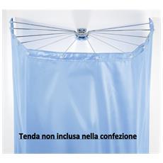 Set Sospensione Ad Ombrello 12 Braccia Cromo Senza Tenda Per Vasca Da Bagno O Doccia - Ombrella 10.11816