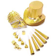Kit Per Feste Color Oro Taglia Unica