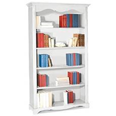 Libreria In Legno Laccata Da 120x40x210h
