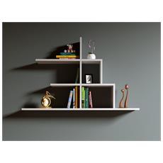 Step Mensola Da Muro - Mensola Parete - Mensola Libreria - Scaffale Pensile Per Studio / Soggiorno In Design Moderno (bianco)