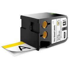 Nastro in Vinile per Etichettatrice Modello XTL Formato 51 mm x 102 mm Nero su Bianco con Intestazione Giallo