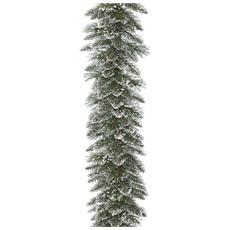 Ghirlanda Verde Innevata 270cm Addobbi Di Natale In Pvc Decorazione Casa