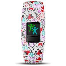 Vivofit Junior 2 in Silicone Impermeabile Bluetooth Compatibile con iPhone e Android Contapassi Multicolore
