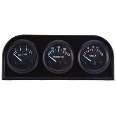 B734 52 Millimetri 3 In1 Auto Accuratezza Auto Gauge Voltmetro Acqua Temperatura Dell'olio Sensore Di Pressione Triple Kit