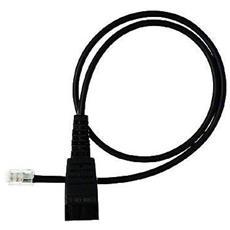 QD cord, straight, mod plug QD RJ11 Nero cavo di interfaccia e adattatore
