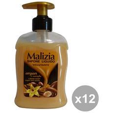 Set 12 Sapone Liquido Argan-vaniglia 300 Ml. Saponi E Cosmetici