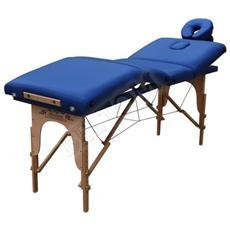 Lettino Massaggio 4 Zone Legno Lettini Per Da Massaggi Pieghevoli Gran Lusso Nuovo Fisioterapia Fisioterapista Tattoo Tatuaggi Relax Richiudibile - Pannello Reiki - Blu