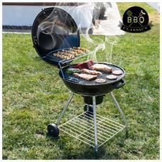Barbecue A Carbone Con Coperchio E Ruote Black Bbq Classics