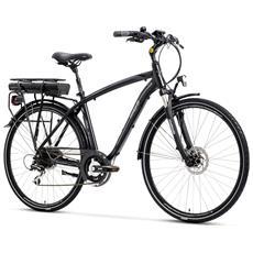 City Bike Elettrica Lombardo E-viterbo Uomo Acera 7v Bafangnero