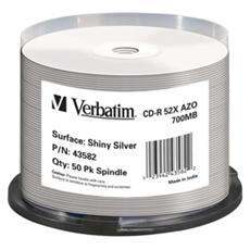 CD-R Super AZO 52x 700MB 50 units Spindle Shiny silver Thermal Printable