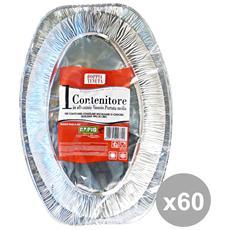 Set 60 Vassoio Medio Alluminio X 1 Pezzi Rapid Contenitori Per La Cucina