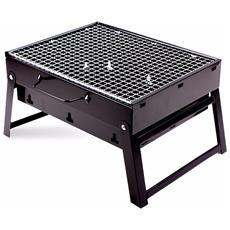 Barbecue Portatile A Carbonella Per Grigliate Carne Pesce Verdure 20x35x27 Cm