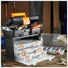 Cassetta Porta Attrezzi Porta Utensili In Plastica Organizer 27 X 18x 26,5 Cm