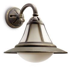 Provence - Lampada Da Parete Lanterna Down Alluminio Nero Spazzolato Max 100 W