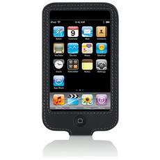 Custodia Leder Sleeve in pelle per Apple iPod Touch 3G Colore Nero