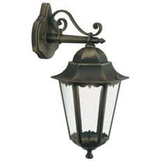 Applique in basso design classico illuminazione esterno nero-oro 100w 6pz