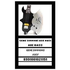 21151 Gene Simmons Axe Bass Kiss Modellino