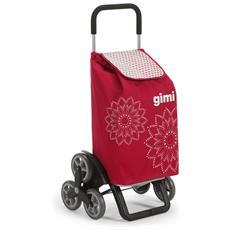 Carrello Spesa Tris 3r Floral Rosso Spesa Facile Shopper