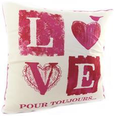 cuscino decorativo 'love' beige rosso - [ m1671]